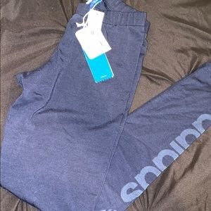 WOMEN XS NAVY BLUE LEGGINGS WITH TAGS